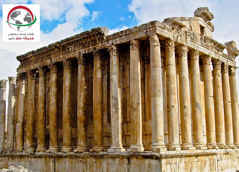 معبد ژوپیتر در شهر تاریخی بعلبک لبنان