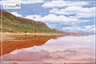 مسیر دسترسی به دریاچه مهارلو فارس
